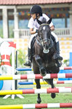 Equestrian Show Jumping. The Premier Cup 2009 from June 18-21, 2009 in Putrajaya, Malaysia. It is a horse show and competition in the two equestrian disciplines Stock Photo