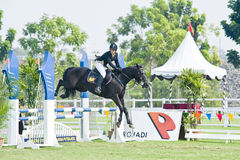 Equestrian Show Jumping. The Premier Cup 2009 from June 18-21, 2009 in Putrajaya, Malaysia. It is a horse show and competition in the two equestrian disciplines Royalty Free Stock Photo