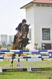 Equestrian Show Jumping. The Premier Cup 2009 from June 18-21, 2009 in Putrajaya, Malaysia. It is a horse show and competition in the two equestrian disciplines Stock Photography