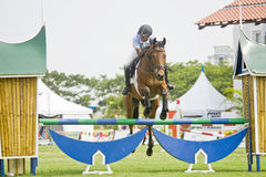 Equestrian Show Jumping. The Premier Cup 2009 from June 18-21, 2009 in Putrajaya, Malaysia. It is a horse show and competition in the two equestrian disciplines Royalty Free Stock Photos