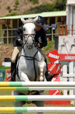 Equestrian Show Jumping. Vimeiro Equestrian Show Jumping - XV International Show Jumping (POR) 24-27Jul2008 Rider-Anne Kamilla Brekke, NOR ;Horse-Go Go Girl 3 Stock Images