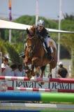 Equestrian Show Jumping. Vimeiro Equestrian Show Jumping - XV International Show Jumping (POR) 24-27Jul2008 Rider-Matilde Almiro, POR ;Horse-Vitivio Royalty Free Stock Images