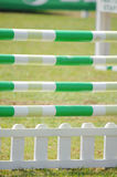 Equestrian Show Jumping. Jumping obstacle close up Royalty Free Stock Photography