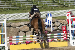 Equestrian show jumping Royalty Free Stock Photography