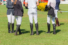 Equestrian Show Jumping Riders Boots Stock Photography
