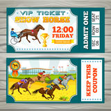 Equestrian Show Pass Tickets Stock Photo