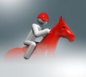Equestrian Skacze 3D symbol, Olimpijscy sporty Obraz Royalty Free