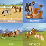 Equestrian Sport Design Concept Royalty Free Stock Photos