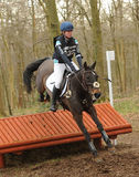 Equestrian sport: horse jumping Stock Image