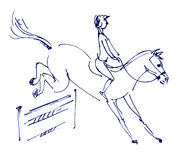 Equestrian sport - show jumping Royalty Free Stock Photography