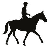 Equestrian sport silhouettes Royalty Free Stock Image