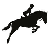 Equestrian sport silhouettes Royalty Free Stock Photos
