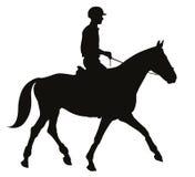Equestrian sporta sylwetki Obraz Royalty Free