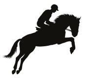 Equestrian sporta sylwetki Zdjęcie Royalty Free