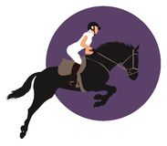 Equestrian sports design Royalty Free Stock Photos