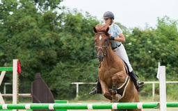 Equestrian Sports, Horse jumping, Show Jumping Royalty Free Stock Photos