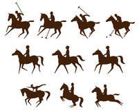 Equestrian sports logos Royalty Free Stock Images