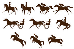 Equestrian sports logos Royalty Free Stock Photography