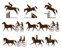 Equestrian sports logos Royalty Free Stock Photos