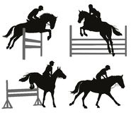 Equestrian sports set Stock Image