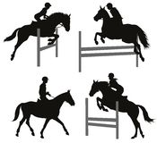 Equestrian sports set 2 Royalty Free Stock Images