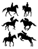 Equestrian Sports Silhouettes Royalty Free Stock Image