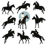 Equestrian sporty royalty ilustracja