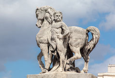 Equestrian State Pont d´Iena Paris Royalty Free Stock Photo