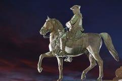 Equestrian statua fotografia stock