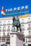 Equestrian statua Carlos III zdjęcie stock
