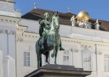 Equestrian statua cesarz Joseph II, Josefsplatz, Wiedeń, Austria obrazy royalty free