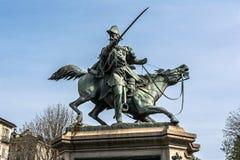 Equestrian statua Ferdinando Di Savoia w Turyn, Włochy Obrazy Royalty Free