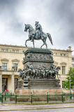 Equestrian statua Frederick Wielki Zdjęcia Stock