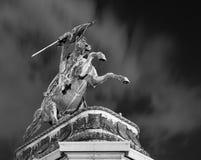 Equestrian statua Heldenplatz Wiedeń Austria Zdjęcia Stock