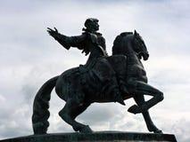Equestrian statua imperatorowa Elizabeth Petrovna Zdjęcie Stock
