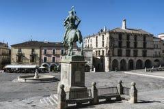 Equestrian statua konkwistador Francisco Pizarro wor obrazy royalty free
