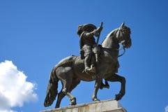 Equestrian statua królewiątko John IV, królewiątko Portugalia Obraz Stock