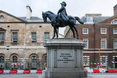 Equestrian statua, Whitehall, Londyn, Anglia Zdjęcie Royalty Free