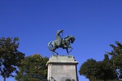 Equestrian statue Stock Image