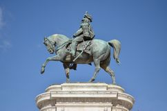 Equestrian Statue. Of Victor Emmanuel II, Piazza Venezia, Rome royalty free stock image