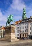 The equestrian statue of Absalon, Copenhagen Royalty Free Stock Photo
