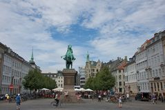 The Equestrian Statue of Absalon in Public Square Royalty Free Stock Photo