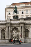 Equestrian statue of Albert in Vienna Stock Image