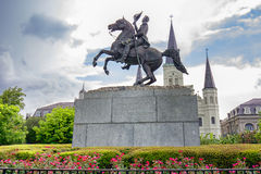 Equestrian Statue of Andrew Jackson Stock Images
