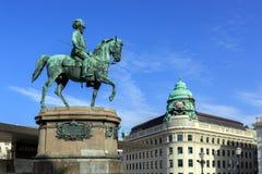 Equestrian statue of Archduke Albrecht, Duke of Teschen.Vienna, Austria. Stock Photos