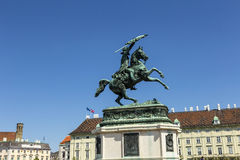 Equestrian statue of Archduke Charles of Austria Stock Image