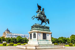 Equestrian statue Archduke Charles in Vienna, Austria Royalty Free Stock Photos