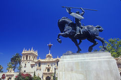 Equestrian statue at Balboa Park Gardens, San Diego, California Stock Photography