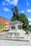 Equestrian statue of Barclay de Tolly on a central square of Chernyakhovsk Stock Photo