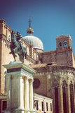 The Equestrian Statue of Bartolomeo Colleoni in Venice Royalty Free Stock Photography